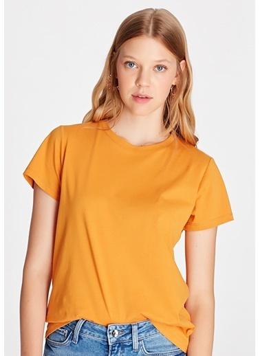Mavi Basic Tişört Oranj